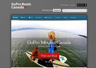 Website Design & E-Store – GoPro Project
