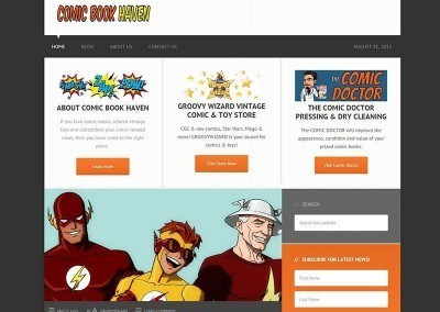 Website Design – Comic Haven Project