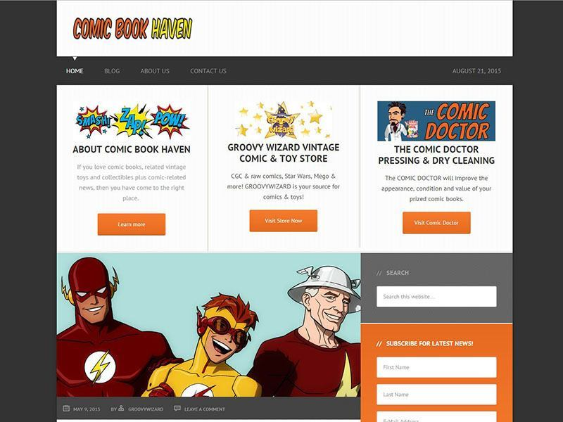 Website Design - Comic Book Haven Project