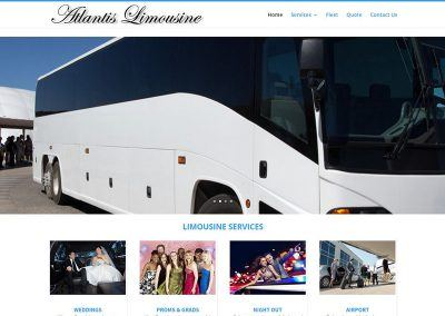 Website Design & SEO – Atlantis Limousine