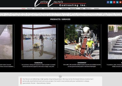 Website Re-Design – Custom Concrete