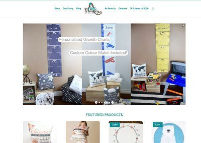 Website Online Store Re-Design – Little Monkey Designs