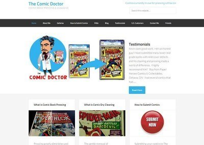 Website Design + SEO Project – Comic Dr.