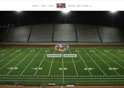 Website Design – Full Frame Sports