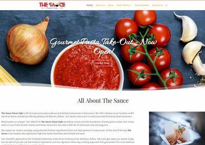 Website Design – The Sauce  Pasta Cafe
