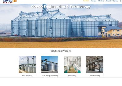 Website Design – COFCO Engineering & Technology Division North America